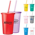 Sizzle 16-oz. Tumbler with Straw