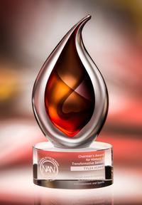 Flare Art Glass Crystal Award