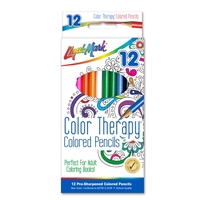 "12 Pack Color Therapy Colored Pencils 7"" Pre-Sharpened"