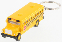 "2.5""L Die Cast School Bus Keychain"