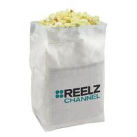 White Popcorn Bag with Custom Imprint