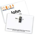 """4"""" x 2 1/2"""" Preferred Vinyl Name Badge Holder Pin/Clip"""