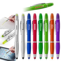 Curvaceous Metallic Stylus Highlighter Pen