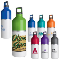 2-Tone color spot aluminum water bottle