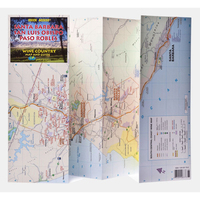 Santa Barbara, San Luis Obispo, Paso Robles Wine Country Map
