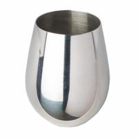 Stemless Wine Glass, Stainless Steel, 18 oz. Rimfull