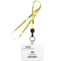 "1/2"" Color Match Lanyard With Key Ring"