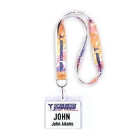 "1"" Dye Sublimated Lanyard, J-Hook"