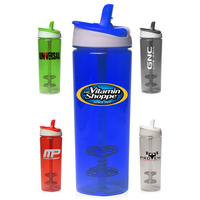 29 oz. Titan Plastic Shaker Bottle with Straw