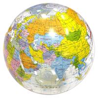 Clear globe beach ball