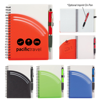 "5"" x 7"" Arc Spiral Notebook With Pen"