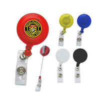 Promotion Giveaway Retractable Badge Reels. Round Shaped