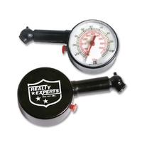 Round analog display auto tire gauge