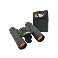 Compact 10 x 25 binoculars with nylon case