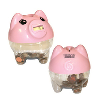 Piggy Bank with Digital Coin Counter