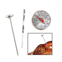 Analog meat thermometer with pocket sleeve and clip