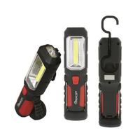 High Intensity COB LED Utility Worklight With LED Flashlight