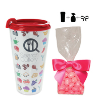 Travel Mug w/ Corporate Color Jelly Beans - 16 oz. Drinkware