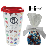 Plastic Travel Mug with Candy Stars - 16 oz. Drinkware
