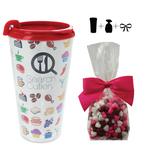 Plastic Travel Mug with Hearts - 16 oz. Drinkware