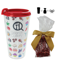 Plastic Travel Mug with Cinnamon Red Hots - 16 oz. Drinkware
