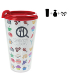 Plastic Travel Mug Empty - 16 oz.