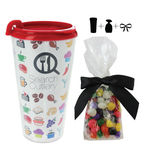 Plastic Travel Mug with Jelly Beans Candy - 16 oz. Drinkware