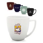 14 oz. Indigo Ceramic Bistro Mug with Handles