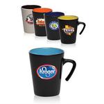 9 oz. Aztec Two-Tone Open Handle Coffee Mug