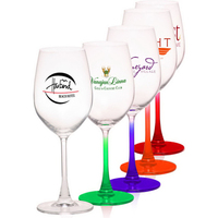 13.25 oz. 100% Lead Free Etched Crystal Wine Glass