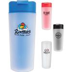 16 oz Frosted Plastic Travel Mug