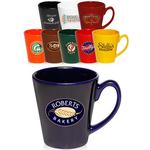 12 oz. Glossy Ceramic Latte Coffee Mug