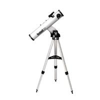 Silver reflector motorized starfinder telescope