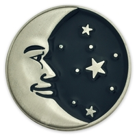 Moon and Stars Lapel Pin