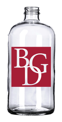 32 oz. Clear Boston Round Growler