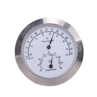 Alloy Silver Thermometer Hygrometer Case For Violin