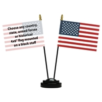 Diplomat Desk Set w/ 1 Additional Flag