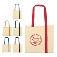 Striped Economy Cotton Canvas Tote Bag
