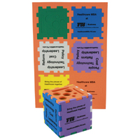 "Foam Puzzle Organizer Cube 3"" Color Mix"