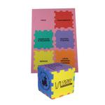 """Foam Puzzle Cube 3"""" Color Mix"""