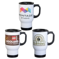 14 oz. Stainless Steel Travel Mug w/Full Color Sublimation