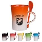 10 Oz. Gradient Spoon Mug