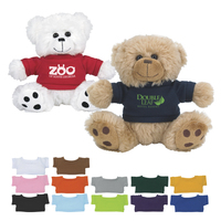 "6"" Plush Big Paw Bear With Shirt"