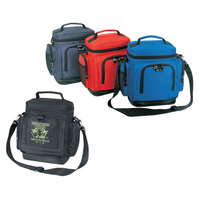 600D Polyester Leakproof Cooler with Leatherette Bottom