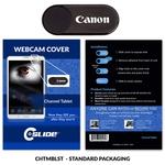 Webcam Cover Channel Tablet Metal - Black Standard pack