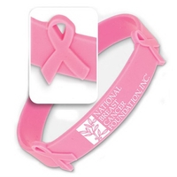 Silicone Awareness Wrist Band with Ribbons