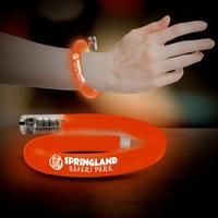 Orange Flashing Coil Tube Bracelets