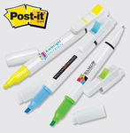 Post-it (R) Trio Series Flag + Pen and Highlighter Combo