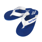 """Flip Flop - """"Rio"""" Rubber Sandal with Fabric Straps"""