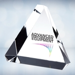 Color Imprinted Beveled Triangle